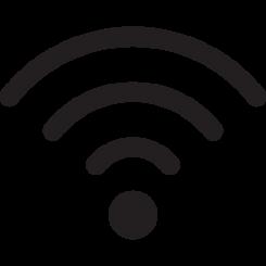 Langaton verkkoyhteys -symboli.
