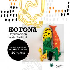 Keski-Pohjanmaan Taito-käsityökoulun Kotona-näyttelyn juliste